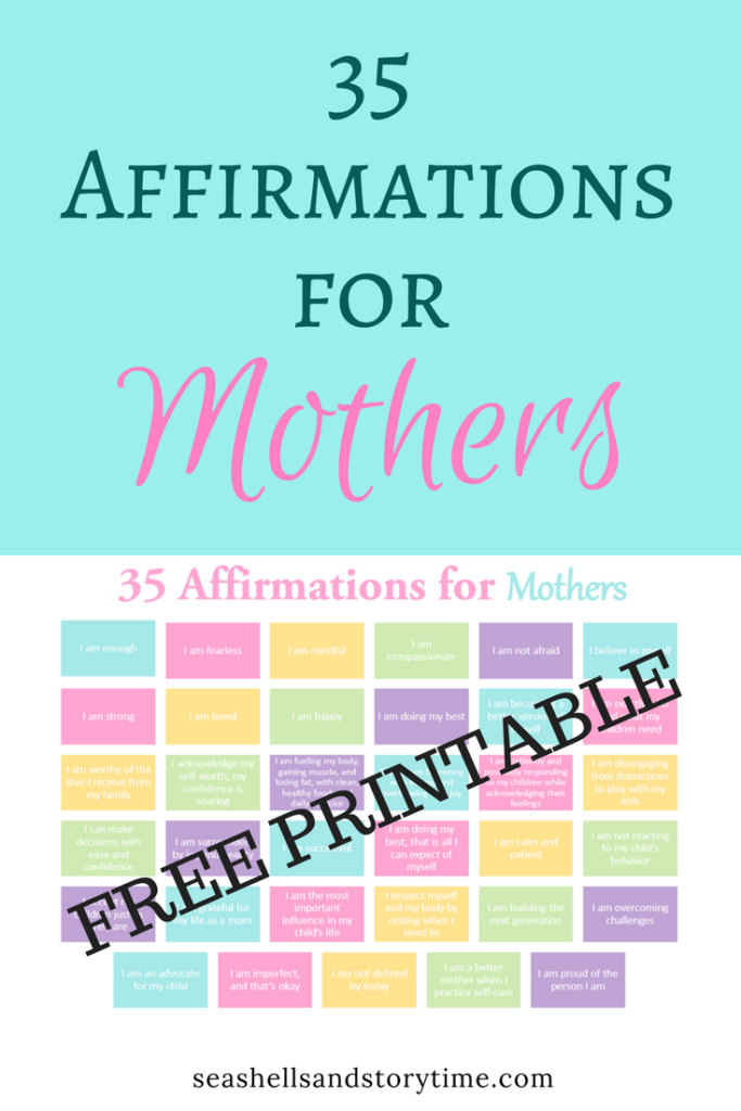 Affirmations for Mothers - Free Printable