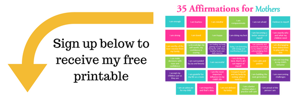 Free printable - 35 Affirmations for Mothers