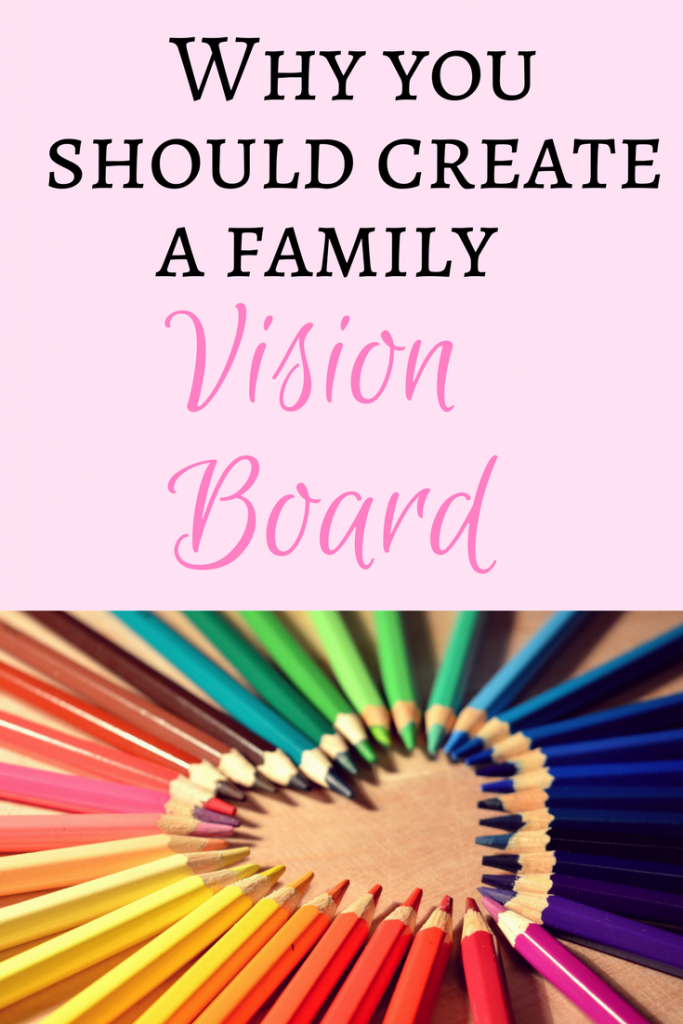 Why and how to create a family vision board.