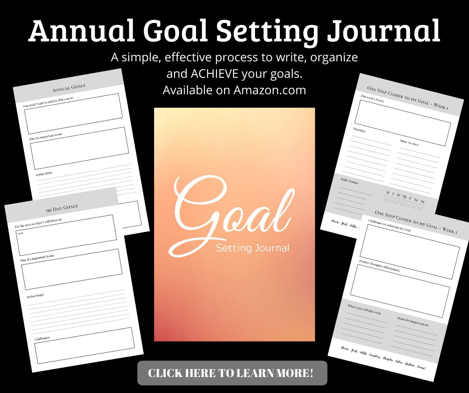Our annual goal setting journal. A simple, effective process to write, organize and achieve your goals.